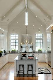 kitchen half vaulted ceiling kitchen pitched roof lighting