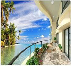 fototapete 3d strand villa erweitern raum wandmalerei
