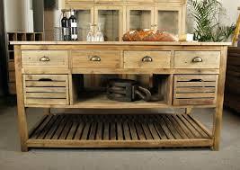 cuisine bergerac ilot central bois ilot central de cuisine bergerac en bois au style