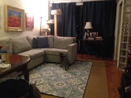 Anyway All Ideas Welcome Light Grey Sofa And Royal Blue Curtains I Can Get New Pillows As Needed Cannot Paint The Walls This Is A NYC Apt That