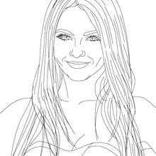 MARYLIN MONROE VICTORIA JUSTICE American Singer Coloring Page