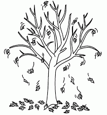 Tree Coloring Pages Fall Page Kids Art