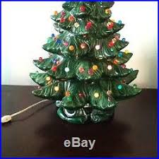 Bulbs For Ceramic Christmas Tree by Ceramic Christmas Tree Green With Multi Colored Bulbs 2 Pc Huge