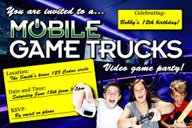 Mobile Game Trucks 15 Best Laser Tag Party Images On Pinterest Tag Party Emoji Invitations Template Printable Theme Invite Game Tylers Video Truck Plus A Minecraft Freebie Robot Birthday Omg Free Inflatables Mobile Parties Invitation Design Monster Carnival Printables Circus Amazoncom Fill In My Little Pony Dolanpedia