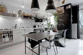 Black And White Decorating Ideas For Modern Kitchens