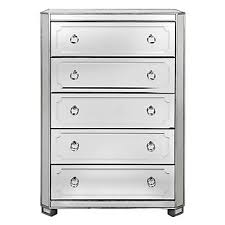 simplicity mirrored 5 drawer tall chest amethyst nicolette