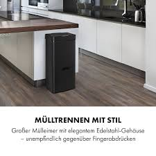 royal trash matte black sensor mülleimer 72 liter volumen