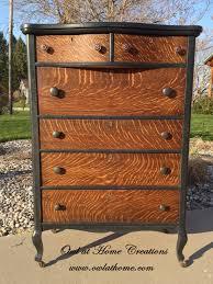 Tiger Oak Serpentine Dresser by Quarter Sawn Oak Antique Dresser Painted With Maison Blanche