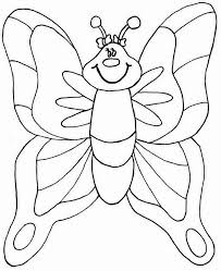 Spring Coloring Pages NICE BUTTERFLY