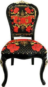 details zu pompöös by casa padrino luxus barock esszimmer stuhl roses harald glööckler