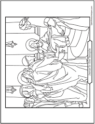 Jesus Teaching In The Synagogue Coloring Page