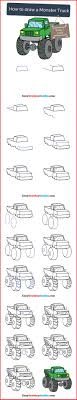 100 Monster Truck Drawing How To Draw A 83368 How To Draw A In A