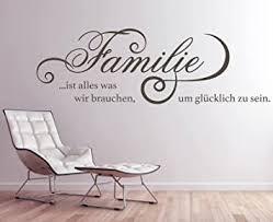 tjapalo gr pkm260 wandtattoo wohnzimmer wandsticker wandaufkleber familie ist alles was wir brauchen um glücklich zu sein breite 140 x höhe 45 cm