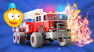 Fire Brigade's Monster Trucks - Cartoon For Kids About Emergency ...