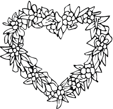 Free Coloring Pages Of Key And Heart Valentines