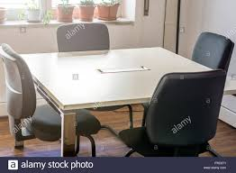 Conference Table With Four Chairs Basic Conference Room Stock Photos Products Bos 3101832 Business Cable Chairs Four Meeting Room Alvar Aalto A Table And Four Chairs Model 69 Artek Mid1900s Table With Vintage Stickley Keyhole Trestle And Four Side Chairs Set Of And Office On Concrete Floor 3d Tables Herman Miller Marquis 3x6 Anso Fniture 48 Point Eight Steelcase Kee Square Breakroom Cherry Black 4 M Stack