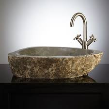 Touchless Bathroom Faucet Bronze by Stone Vessel Bathroom Sinks Sinks Stone Sink And Linus Faucet Pop