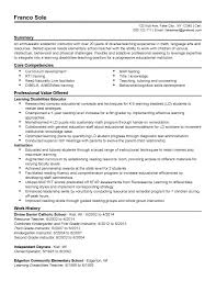 Resume Sample Special Education Teacher Refrence Examples 2013 Resumes And Sradd