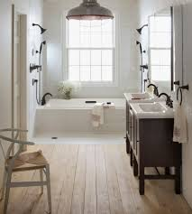 Alluring Farmhouse Bathroom Tile Also Luxury Home Interior