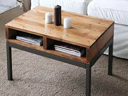 Image Of Book Storage Small Coffee Table Using Black Color Legs