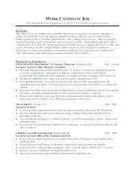 Administrative Assistant Resume Objective Efficient Sample For Receptionist Position