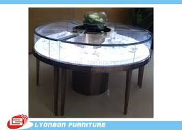 Customized MDF Retail Round Display Table For Jewelry Showing SGS ISO