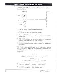 Homework Page 60 Gateways To Science Use The Formula Fma Answer Questions
