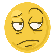 Bored Face Emoji Transparent PNG