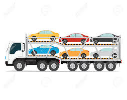 The Trailer Transports Cars With New Auto, Truck Trailer Transport ...