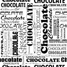 Patrón De Chocolate Sin Fisuras Con La Palabra Chocolate Con