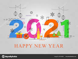 Items Where Year Is 2021 Happy New Year 2021 Vector Illustration On Gray Background With Snowflakes Gifts And Different Types Of Decorating Items 431322566