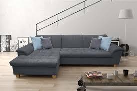 farini ecksofa polstergarnitur couchgarnitur sofa steel blau grau