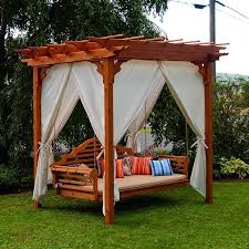 Wooden Garden Swing Seat Plans by Pergola With Bed Swing This Package Includes 1 X Porch Swing 1 X