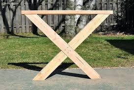 Dining Room Table Leg Build This Outdoor Featuring A Herringbone Top And X Brace Legs