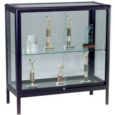 Glass Curio Hanging Display Box Wall Mounted Showcase Metal Cabinet With Lights Large Lighted Case Cabinets Decoration Hardware Knobs Doors Component