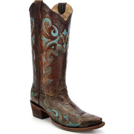 Circle G Women's Embroidered Cowgirl Boot Snip Toe - L5193, Brown