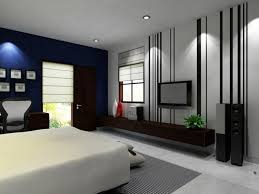 chambre à coucher couleur peinture chambre adulte deco bleu blanc