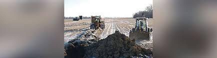 farm drain tile installation drain install sauk centre mi