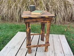Custom Made Nightstand Side Table From Reclaimed Pallet Wood
