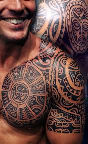 Aztec Chest Tattoos For Men Tribal Style Characteristics