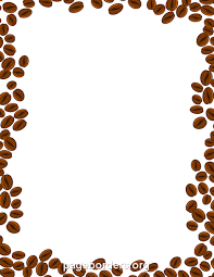 Free GIF JPG PDF And PNG Downloads At Pagebordersorg Download Coffee Beans Border