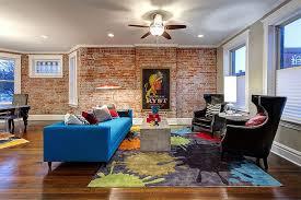 backstein im wohnzimmer interieur 100 deko ideen und fotos