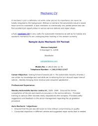 Automotive Technician Resume Template Fair Auto Mechanic Objective Examples