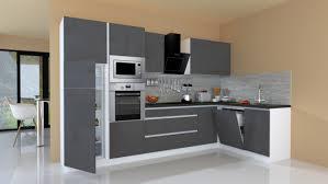 winkelküche küchenzeile küche l form küche grifflos grau 345 x 172 cm respekta