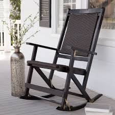 Black Wooden Rocking Chair Brilliant Furniture Stunning For Outdoor ...