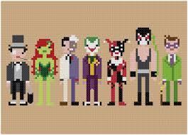 Batman Un Long Halloween Pdf by Batman Villains Pixel Art Pinterest Cross Stitch Stitch And