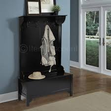 Wood Entryway Mudroom Hall Tree Shoe Storage Bench Hat Coat Rack Within With And