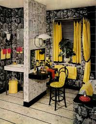 Yellow Grey Bathroom Ideas by 1952 Armstrong Black And Yellow Bathroom Black And Yellow