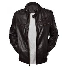 bomber men u0027s lambskin leather jacket