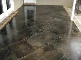 black acid stained concrete floors living room flooring cement